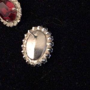 Jewelry - Ruby rhinestone earrings
